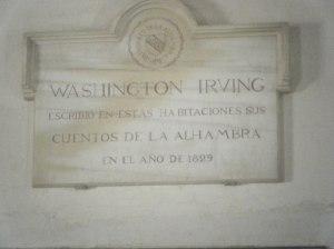 Placa a Washington Irving